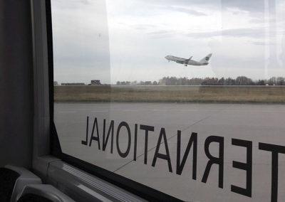 Abschlussexkursion Dresdner Flughafen mit Flughafenfeuerwehreinsatz